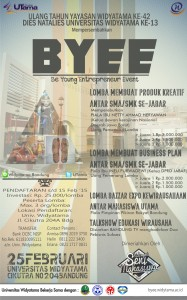BE YOUNG ENTREPRENEUR EVENT (BYEE)