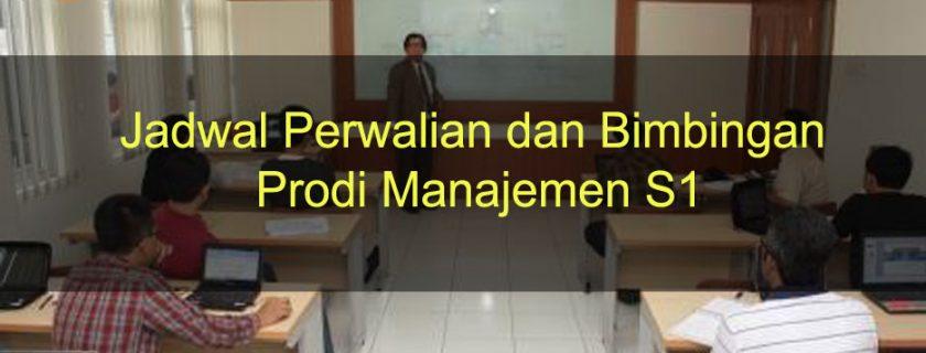 Jadwal Perwalian dan Bimbingan prodi Manajemen S1